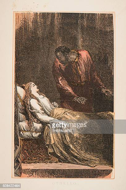 othello by shakespeare engraving 1870 - the grass is always greener stock illustrations, clip art, cartoons, & icons