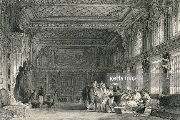 ottoman palace - ottoman empire stock illustrations