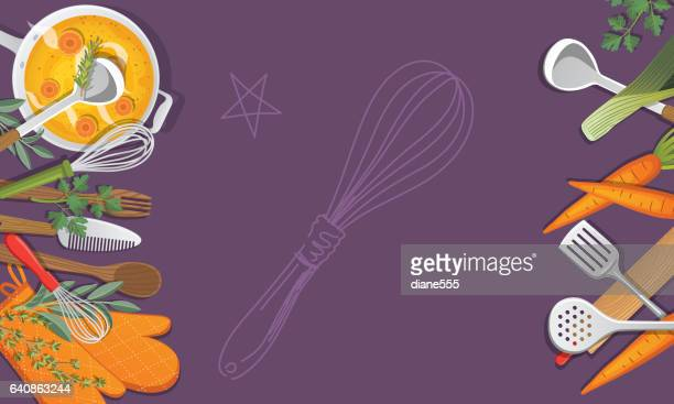Overhead Angle Of Foods And Cooking