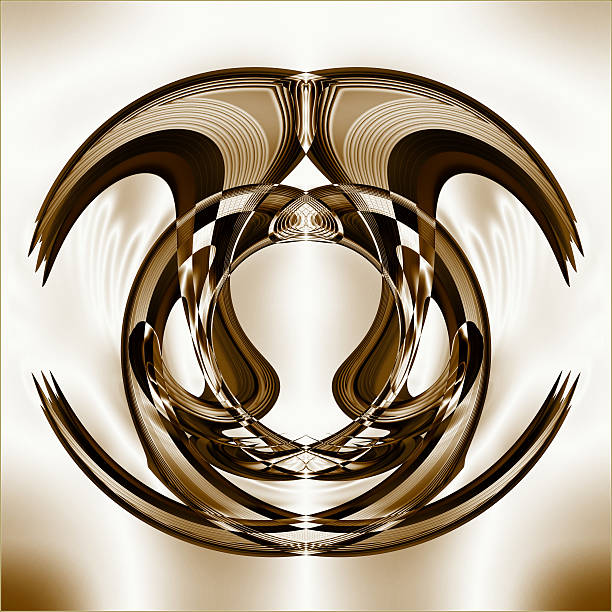 Overlapping Curved Shapes Creative Design Wall Art