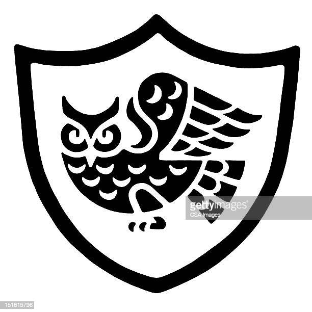 owl crest - gliedmaßen körperteile stock-grafiken, -clipart, -cartoons und -symbole