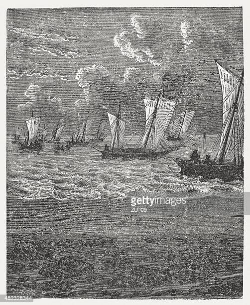 Oyster gatherers, published in 1868
