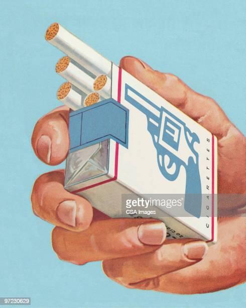 Pack of Cigarettes Branded as Loaded Gun