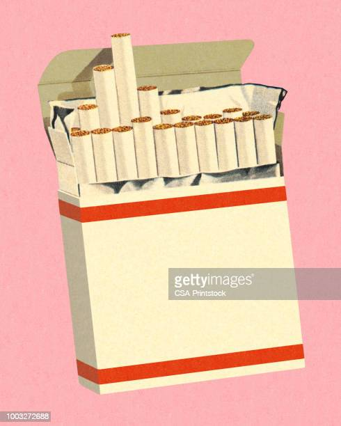 pack of cigarettes - cigarette stock illustrations