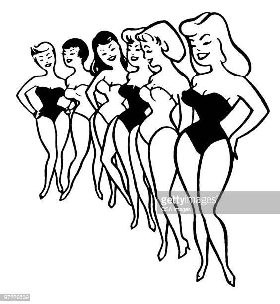 pageant - swimwear stock illustrations, clip art, cartoons, & icons