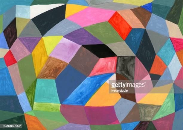 塗装のカラフルな幾何学的図形の背景パターン - 絵画点のイラスト素材/クリップアート素材/マンガ素材/アイコン素材