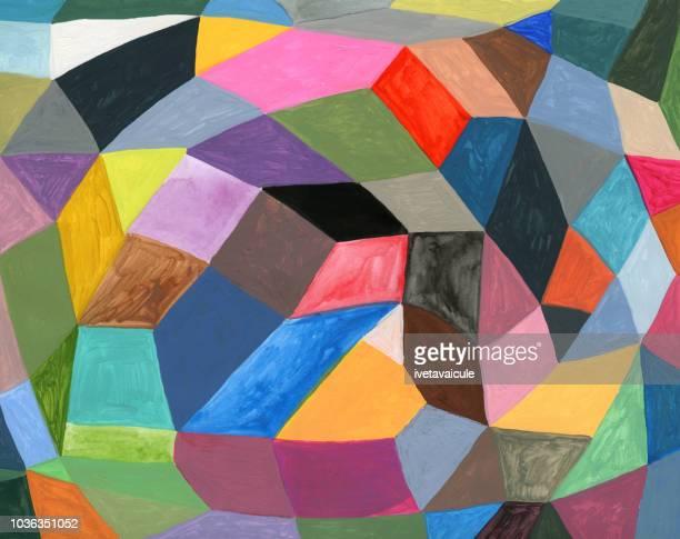 塗装のカラフルな図形パターン