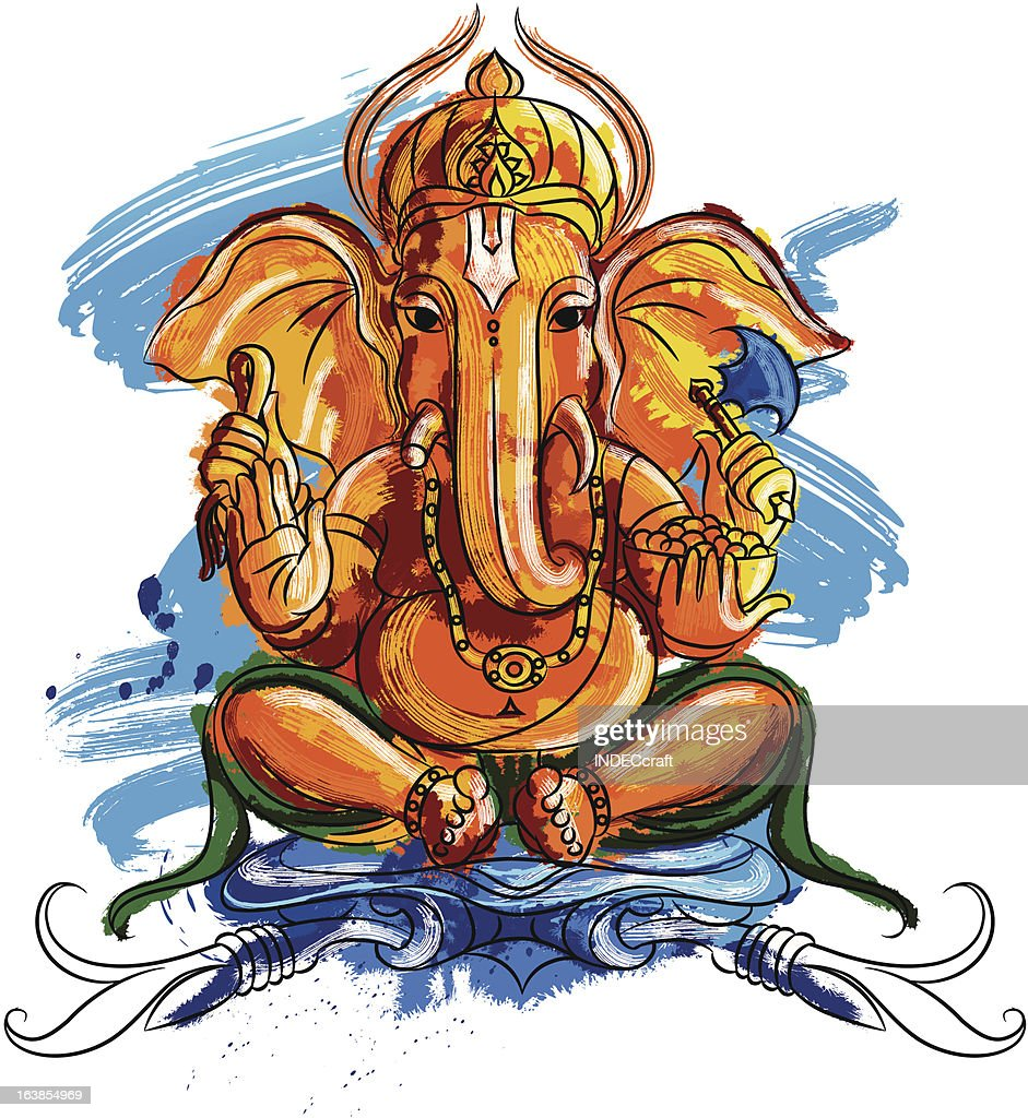 Painted Lord Ganesh