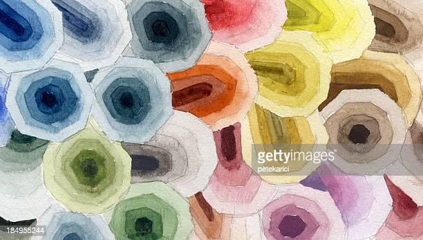 ilustrações, clipart, desenhos animados e ícones de pintado em aquarela sobre papel - pintura de belas artes