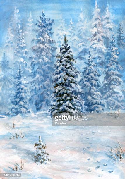 painted winter forest
