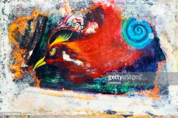 painting by filiberto bonaventura - afterlife stock illustrations, clip art, cartoons, & icons