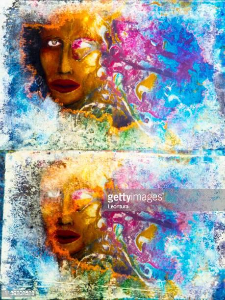 ilustraciones, imágenes clip art, dibujos animados e iconos de stock de pintura de filiberto bonaventura - aumento de senos