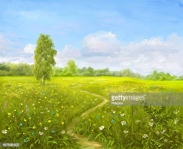 Painting Green Meadow