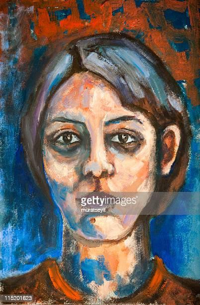 painting - fine art portrait stock illustrations