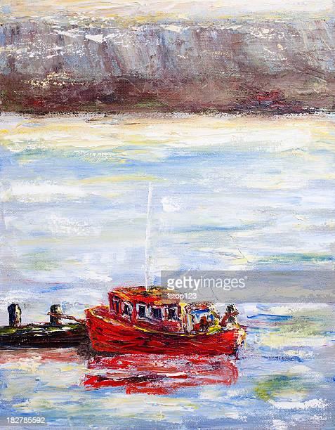 絵画のレッドのタグボート埠頭近くです。