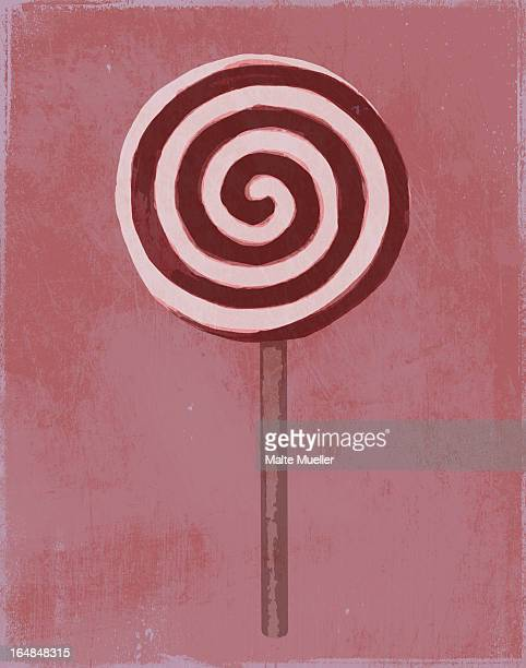 a painting of a swirl lollipop - temptation stock illustrations, clip art, cartoons, & icons