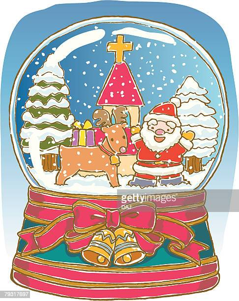 Painting of Christmas ornament, Illustration