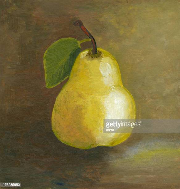 Painting of yellow pear