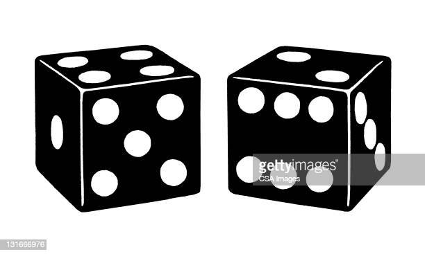 pair of dice - toy stock illustrations