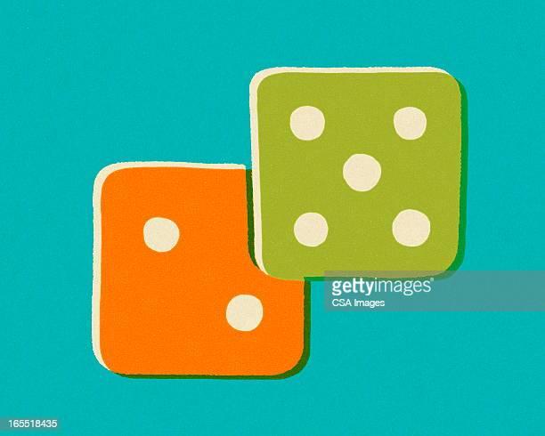 pair of dice - nevada stock illustrations