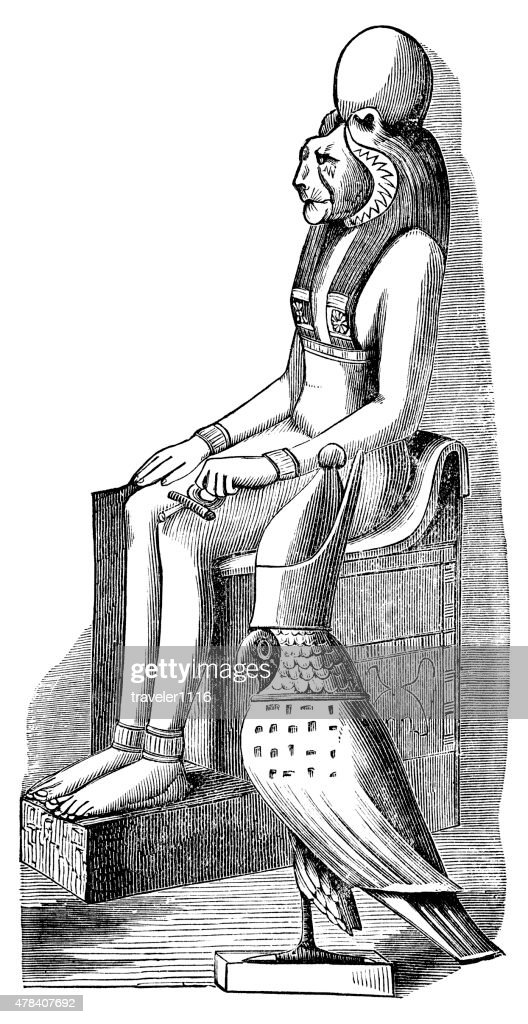 Pakhet Egyptian Lioness God Of War stock illustration - Getty Images