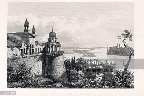 ilustrações, clipart, desenhos animados e ícones de palácio em agra - cúpula estilo russo
