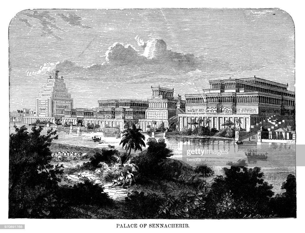 Palace of Sennacherib : Stock Illustration