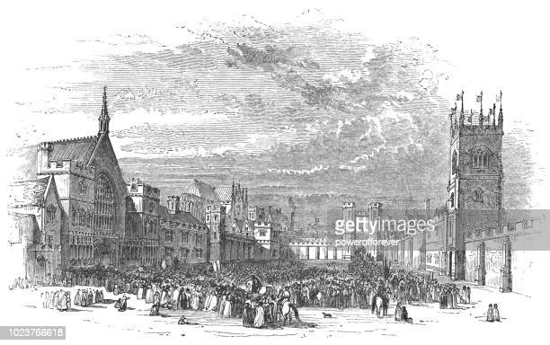 palace of westminster in london, england - circa 14th century stock illustrations, clip art, cartoons, & icons