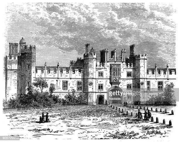 palace of whitehall ,london - 17th century stock illustrations, clip art, cartoons, & icons