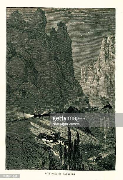 pancorbo pass, spain i antique european illustrations - en búsqueda stock illustrations