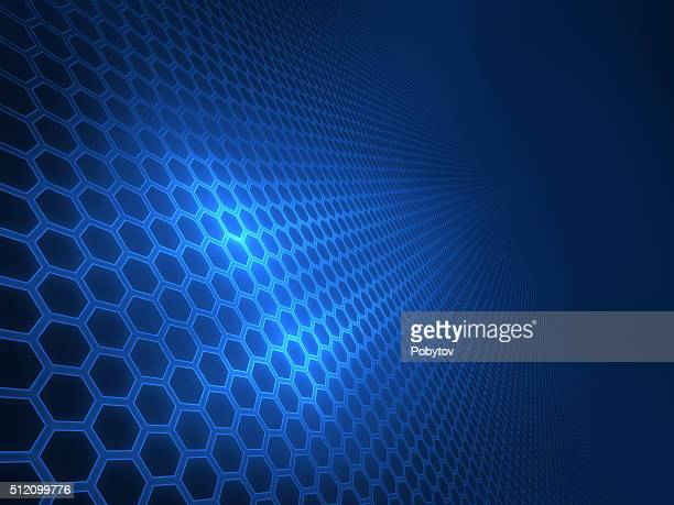 panel of hexagons, techno abstract background