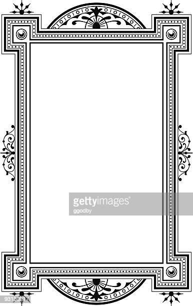 ilustrações, clipart, desenhos animados e ícones de painel - 71404 - moldura preta