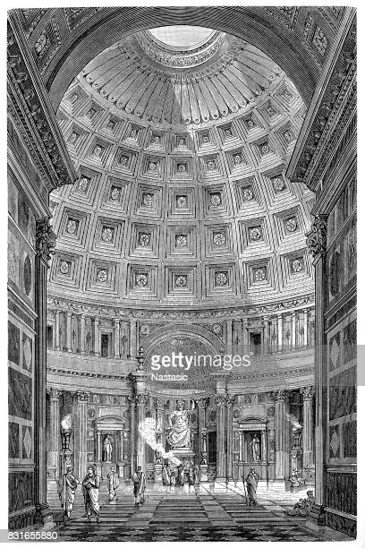 Pantheon in Rome, interior view