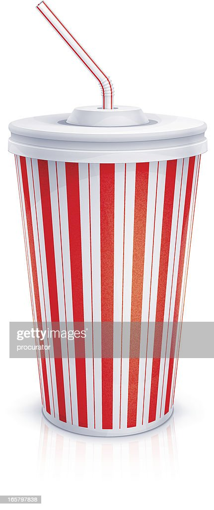 Paper cup with tube