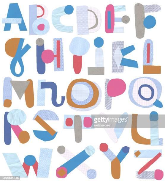 剪紙字母 - pejft 幅插畫檔、美工圖案、卡通及圖標