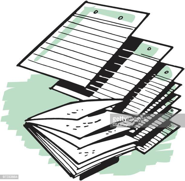 paper - paperwork stock illustrations