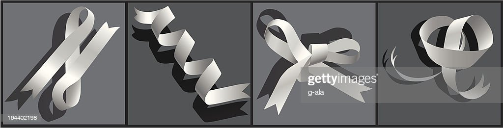 paper ribbon on a dark background