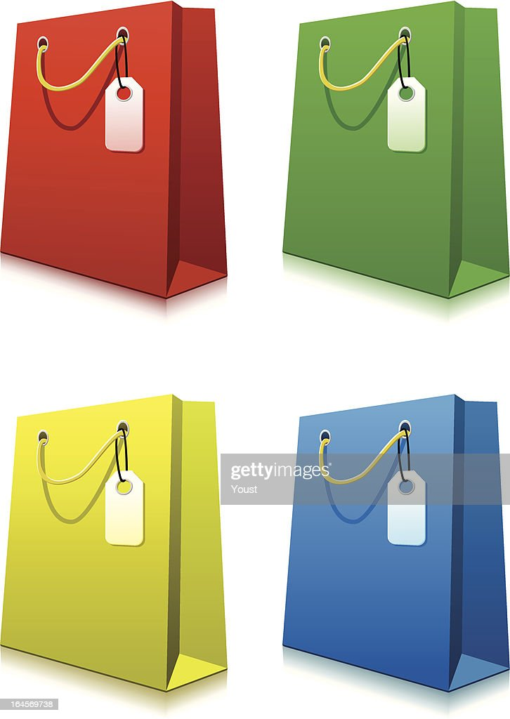 Paper Shopping Bags with Price Tags