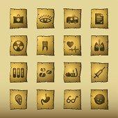 papyrus medicine icons