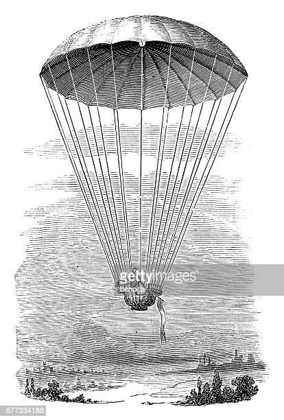 illustrations, cliparts, dessins animés et icônes de parachute  - saut en parachute
