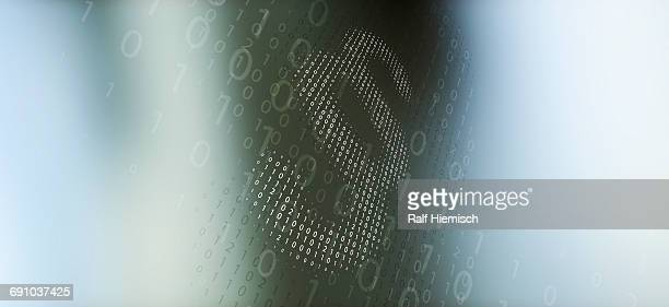 paragraph sign made from binary code over abstract background - colour gradient stock illustrations