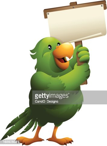 Parakeet Holding Banner High Res Vector Graphic Getty Images