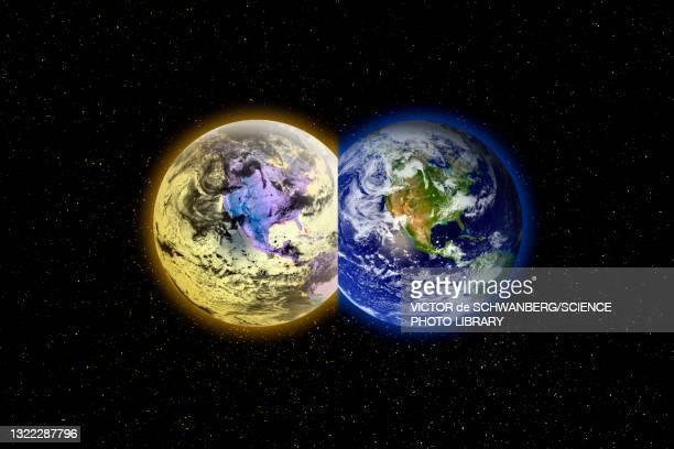 parallel universes, conceptual illustration - physics stock illustrations