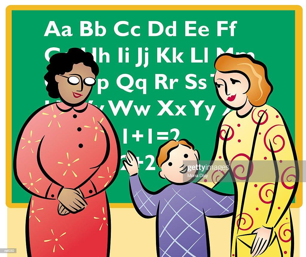 Parent-Teacher Conference : Ilustração de stock