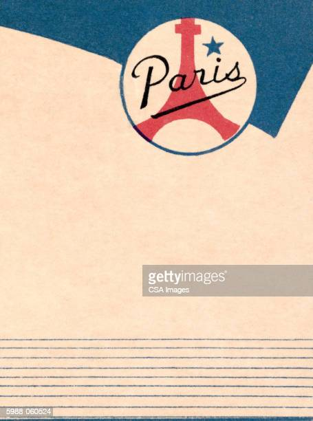 "paris"" stationer - france stock illustrations"