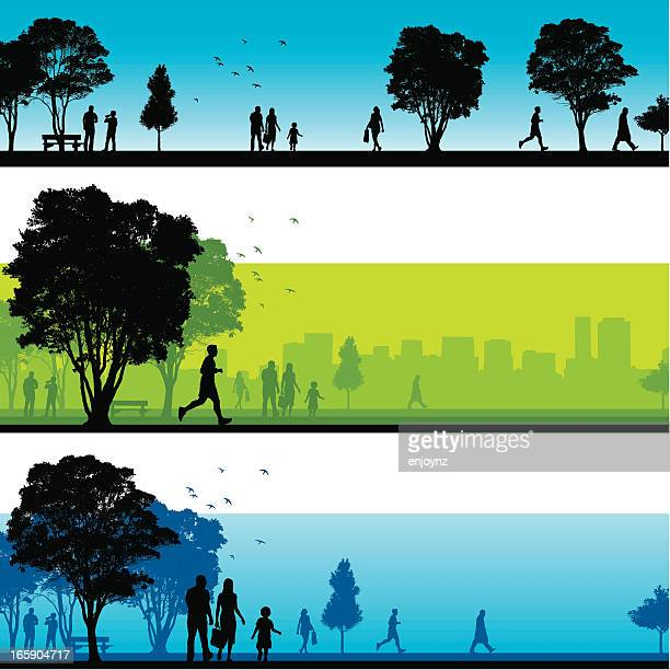 Park silhouettes