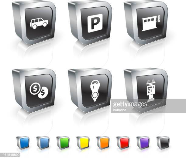 parking options royalty free vector icon set