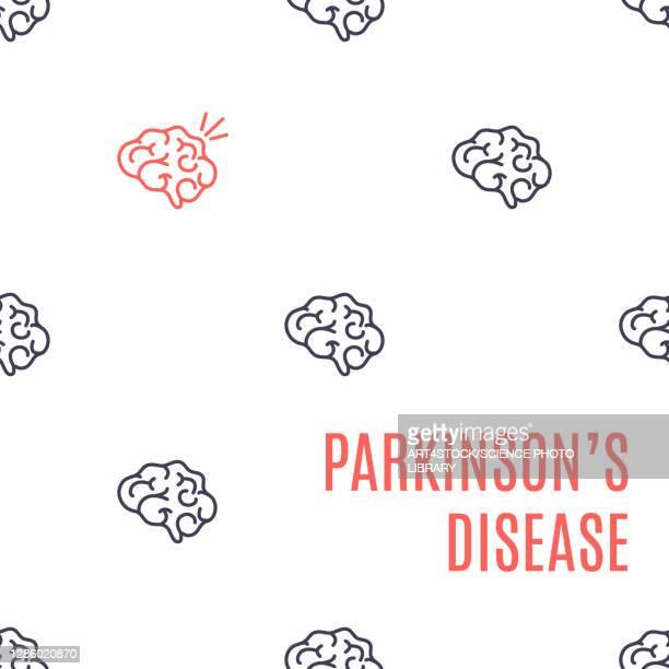parkinson's disease, conceptual illustration - the ageing process stock illustrations