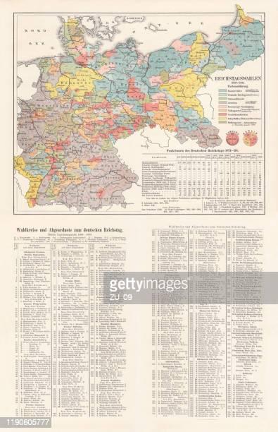 ドイツ帝国の議会選挙 1898-1903 クロモリトグラフ 1899年発行 - 支援団体点のイラスト素材/クリップアート素材/マンガ素材/アイコン素材