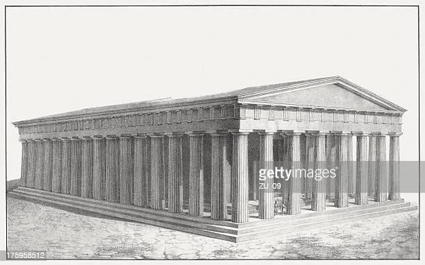 Parthenon (restaurated) at the Acropolis in Athens,